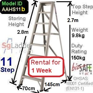 A-Frame 11-Step Ladder (Hvy Duty) rent 1 Week