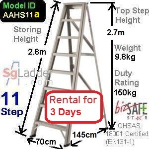 A-Frame 11-Step Ladder (Hvy Duty) rent 3 Days