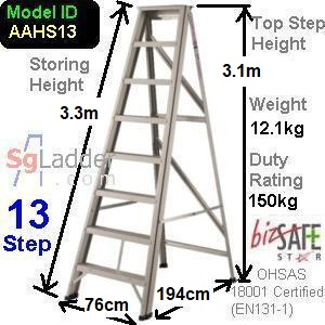 A-Frame 13-Step Aluminum Ladder (Heavy Duty)