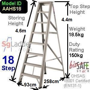 A-Frame 18-Step Aluminum Ladder (Heavy Duty)