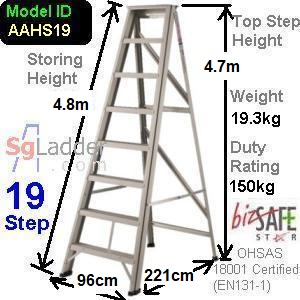A-Frame 19-Step Aluminum Ladder (Heavy Duty)