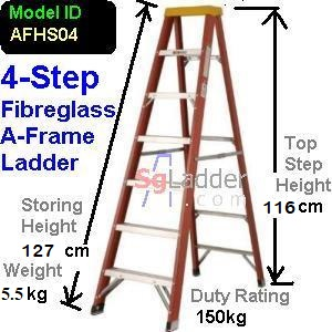 A-Frame 04-Step Fibreglass Ladder (Heavy Duty)