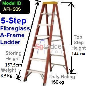 A-Frame 05-Step Fibreglass Ladder (Heavy Duty)