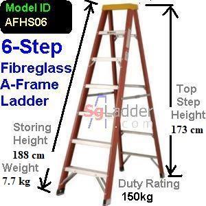 A-Frame 06-Step Fibreglass Ladder (Heavy Duty)