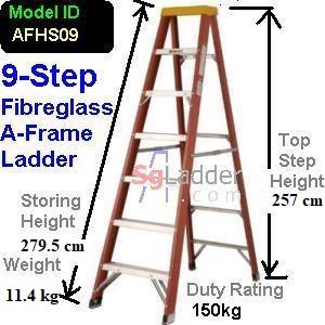 A-Frame 09-Step Fibreglass Ladder (Heavy Duty)