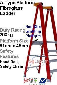Platform Fibreglass Ladder Singapore