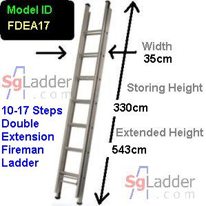 Fireman Aluminum 10-17-Step Ladder