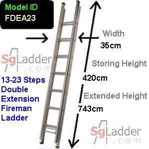 Fireman Aluminum 13-23-Step Ladder