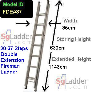 Fireman Aluminum 20-37-Step Ladder
