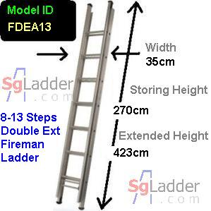 Fireman Aluminum 08-13-Step Ladder
