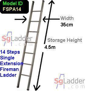 Fireman Aluminum 14-Step Ladder