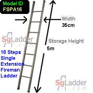 Fireman Aluminum 16-Step Ladder