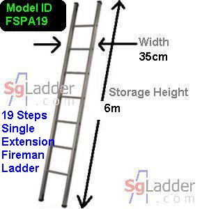 Fireman Aluminum 19-Step Ladder