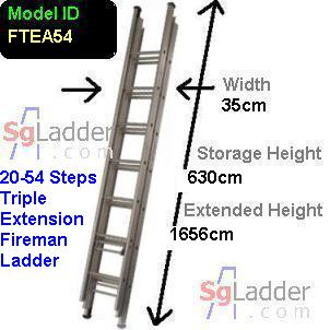 Fireman Aluminum 20-54-Step Ladder