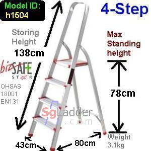 4-Step Aluminium Safety Ladder
