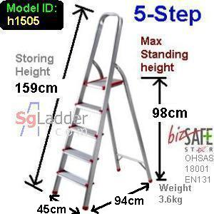5-Step Aluminium Safety Ladder