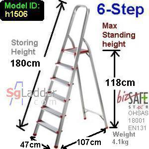 6-Step Aluminium Safety Ladder