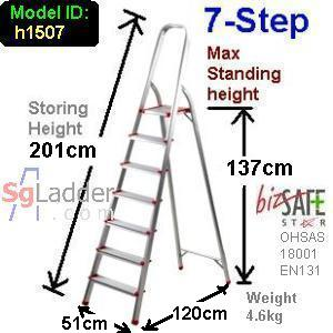 7-Step Aluminium Safety Ladder