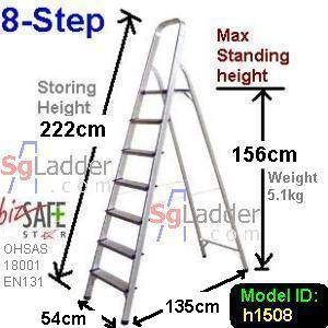 8-Step Aluminium Safety Ladder