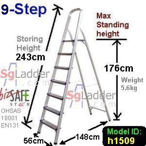 9-Step Aluminium Safety Ladder