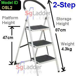 Office Steel Ladder 2-Step