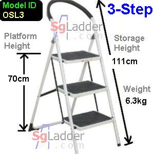 Office Steel Ladder 3-Step