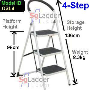 Office Steel Ladder 4-Step