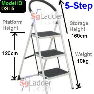 Office Steel Ladder 5-Step